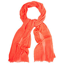 Buy White Stuff Dreaming Away Scarf, Neon Orange Online at johnlewis.com