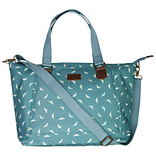 Buy Fat Face Bird Print Matte Day Bag, Green Online at johnlewis.com