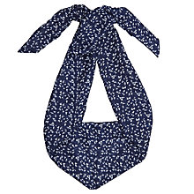 Buy John Lewis Skinny Bird Print Scarf, Navy/White Online at johnlewis.com