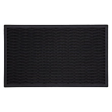Buy John Lewis Bamboo Weave Door Mat, Black Online at johnlewis.com