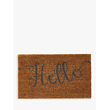 Buy John Lewis Hello Door Mat, Natural Online at johnlewis.com
