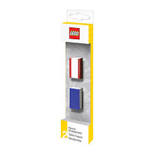 Buy LEGO Pencil Sharpener, Pack of 2, Blue/Red Online at johnlewis.com
