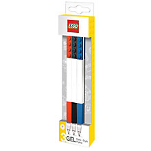 Buy LEGO Gel Pens, Pack of 3 Online at johnlewis.com