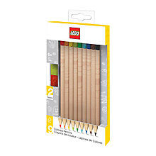 Buy LEGO Coloured Pencils, 9 Pack Online at johnlewis.com