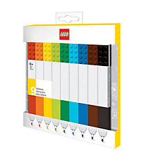 Buy LEGO Marker Pens, Pack of 9 Online at johnlewis.com