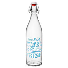 Buy House by John Lewis 'Word' 1Ltr Bottle, Blue Online at johnlewis.com
