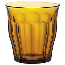 Buy Duralex Picardie Tumbler, Set of 6, Amber Online at johnlewis.com
