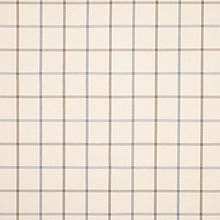 Buy John Lewis William Check Fabric, Natural, Price Band B Online at johnlewis.com
