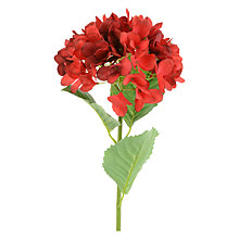 Buy Floralsilk Hydrangea Single Stem, Red Online at johnlewis.com