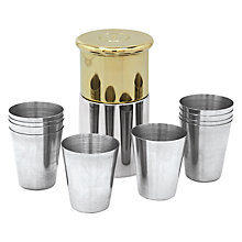 Buy English Pewter Company Shotgun Cartridge Cup Holder, Set of 10 Online at johnlewis.com