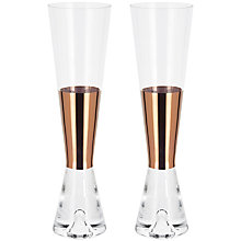Buy Tom Dixon TANK Champagne Glasses, Set of 2 Online at johnlewis.com