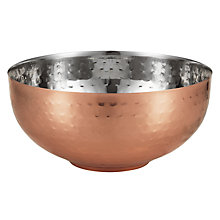 Buy John Lewis Fusion Hammered Metal Bowl Online at johnlewis.com