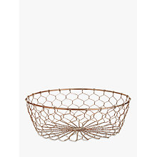 Buy John Lewis Coastal Cote De Provence Copper 'Fisherman's' Fruit Basket Online at johnlewis.com