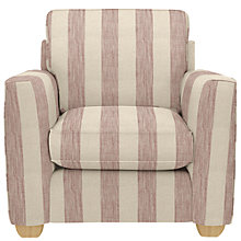Buy John Lewis Walton II Armchair, Brody Stripe Coastal Red Online at johnlewis.com