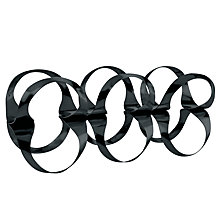 Buy Alessi 'Ribbon' Bottle Rack, Black Online at johnlewis.com