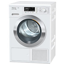 Buy Miele TKR 850 Freestanding Heat Pump Tumble Dryer, 9kg Load, A+++ Energy Rating, White Online at johnlewis.com