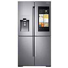 Buy Samsung RF56K9540SR/EU Family Hub Smart Fridge Freezer, A+ Energy Rating, 90cm Wide, Stainless Steel Online at johnlewis.com