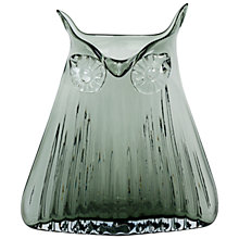 Buy Magpie Tall Glass Owl Vase, Blue Online at johnlewis.com