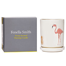 Buy Fenella Smith Flamingo and Pineapple Lidded Candle Online at johnlewis.com