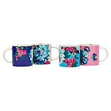 Buy Joules Cuppa Multi Flora Mugs, Set of 4 Online at johnlewis.com