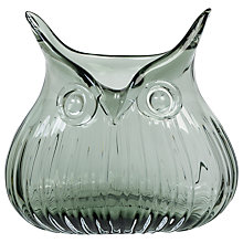 Buy Magpie Short Glass Owl Vase, Blue Online at johnlewis.com