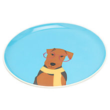 Buy Joules Airedale Terrier Single Side Plate, Blue Online at johnlewis.com