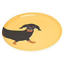 Buy Joules Dachshund Single Side Plate, Yellow Online at johnlewis.com
