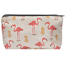 Buy Fenella Smith Flamingo and Pineapple Make-up Bag, Small Online at johnlewis.com