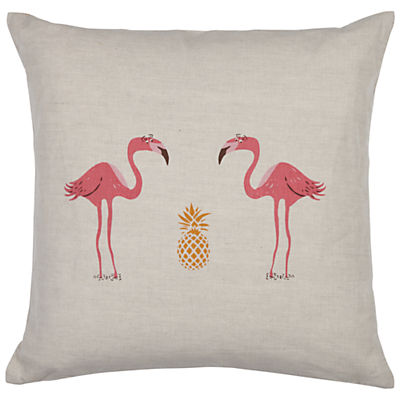Image of Fenella Smith Flamingo and Pineapple Cushion