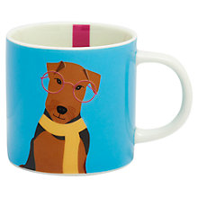 Buy Joules Cuppa Airdale Terrier Mug, Blue Online at johnlewis.com