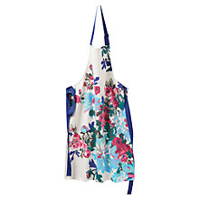 Buy Joules Floral Apron, Cream Online at johnlewis.com