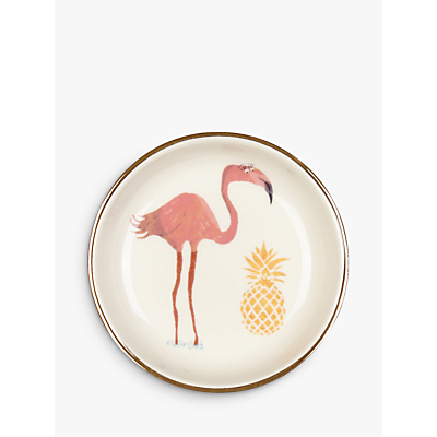 Image of Fenella Smith Flamingo and Pineapple Ring 9cm Plate