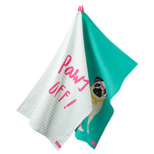 Buy Joules Pug Tea Towels, Set of 2 Online at johnlewis.com