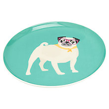 Buy Joules Pug Single Side Plate, Aqua Online at johnlewis.com