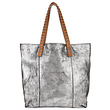 Buy Collection WEEKEND by John Lewis Memphis Leather Stud Tote Bag, Silver Online at johnlewis.com