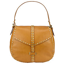 Buy Collection WEEKEND by John Lewis Memphis Leather Stud Shoulder Bag, Tan Online at johnlewis.com