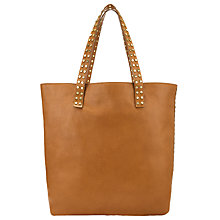 Buy Collection WEEKEND by John Lewis Memphis Leather Stud Tote Bag, Tan Online at johnlewis.com