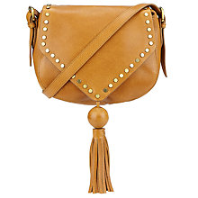 Buy Collection WEEKEND by John Lewis Memphis Leather Stud Across Body, Tan Online at johnlewis.com