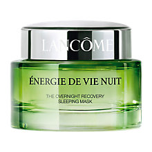 Buy Lancôme Energy De Vie Nuit Sleep Mask, 75ml Online at johnlewis.com