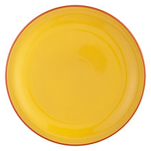 Buy John Lewis Alfresco Dinner Plate, Yellow Online at johnlewis.com