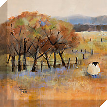 Buy Debbie Neill - Sheep Gathering Detail I Canvas Print, 40 x 40cm Online at johnlewis.com