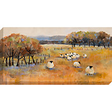 Buy Debbie Neill - Sheep Gathering Canvas Print, 100 x 50cm Online at johnlewis.com