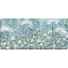 Buy Catherine Stephenson - Lavender Daisy Meadow Canvas Print, 135 x 60cm Online at johnlewis.com