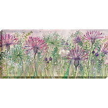 Buy Catherine Stephenson - Thistle and Clover Canvas Print, 135 x 60cm Online at johnlewis.com