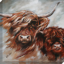 Buy Hilary Barker - Morag and Son Canvas Print, 60 x 60cm Online at johnlewis.com