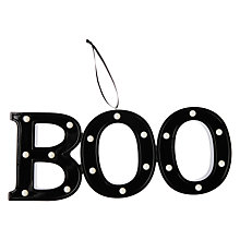 Buy John Lewis Boo Halloween Light Up Sign Online at johnlewis.com