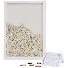 Buy Ginger Ray Wooden Frame Wedding Guestbook Online at johnlewis.com
