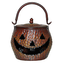 Buy John Lewis Large Tin Halloween Pumpkin With Lid Online at johnlewis.com