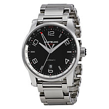 Buy Montblanc 109135 Men's Timewalker Voyager UTC Automatic Bracelet Strap Watch, Silver/Black Online at johnlewis.com