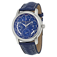 Buy Frédérique Constant FC-718NWM4H6 Men's Manufacture Worldtimer Alligator Leather Strap Watch, Blue Online at johnlewis.com